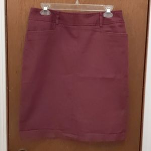 Dressbarn burgundy pencil skirt